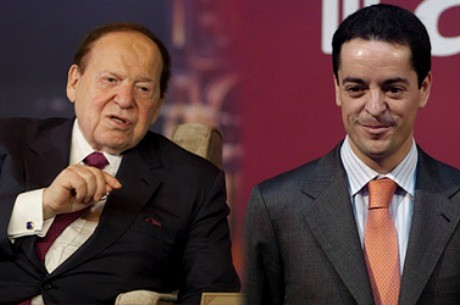 Sheldon Adelson y Enrique Bauelos