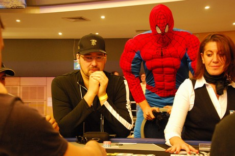 Phil Hellmuth and Spider-Man!