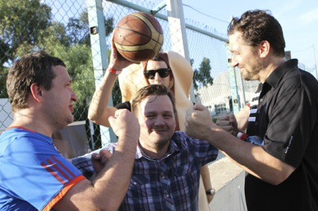 VIDEO: Tony G and Phil Hellmuth Triathlon, Basketball Edition