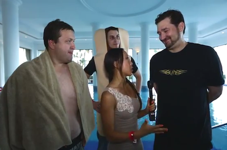 VIDEO: Tony G and Phil Hellmuth Triathlon, Swimming Edition