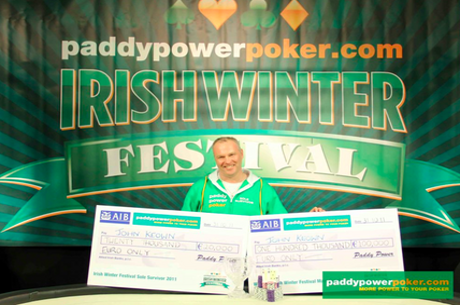 John Keown, the 2011 Irish Winter Festival Main Event champion