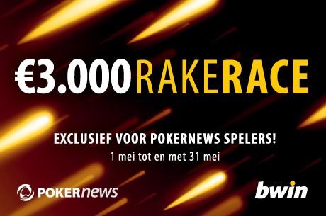 $3.000 RakeRace op Bwin.be exclusief voor PokerNews spelers
