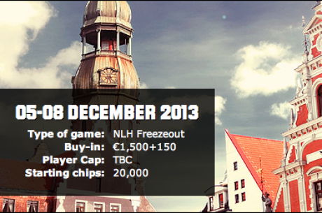 Doe vanavond mee aan de Unibet Open Riga FREEROLL om 20:00!