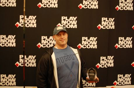 Jamie Constantine after winning Event #3 of PlayNow Poker Championships