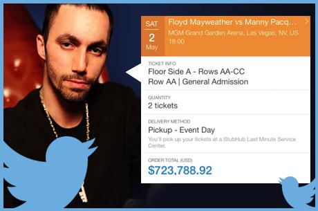 Tweet Tweet Bad Beat - Pokerwereld in de ban van Mayweather vs. Pacquiao, Sahamies aan het rappen