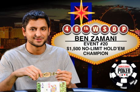 Ben Zamani Washes Away the Sour Taste of Second Place by Winning First WSOP Bracelet