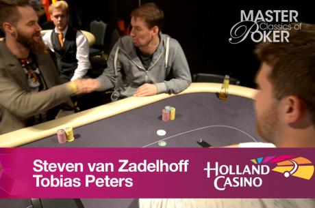 Tobias Peters heads-up tegen Steven van Zadelhoff