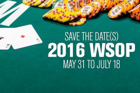 2016 WSOP Schedule