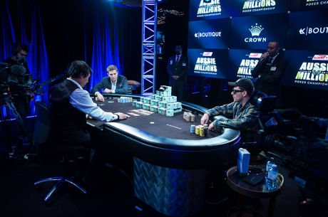Tony Dunst and Ari Engel, heads-up for the 2016 Aussie Millions Main Event