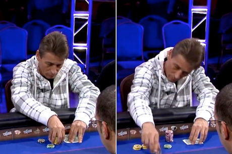 Reading Poker Tells Video: Double-Checking Hole Cards Before Postflop Bets