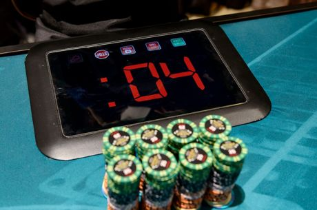 "The World Poker Tour's ""Action Clock"""