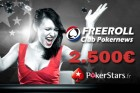 PokerStars.fr : Freerolls 2500€ PokerNews