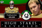 "High Stakes Revealed - PostFlopAction speelt ""patpatpanda"" leeg"
