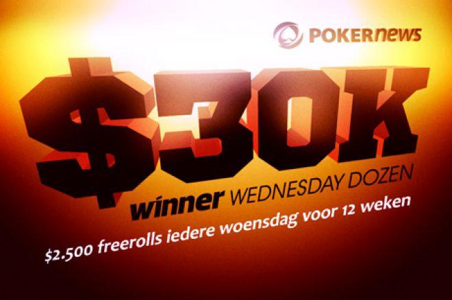 Aanstaande woensdag is er weer een $2.500 freeroll op Winner Poker