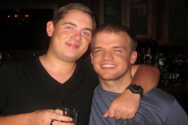 """Rhys Jones (grey t-shirt) with Toby """"810ofclubs"""" Lewis"""