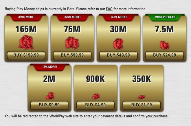 does pokerstars use real money