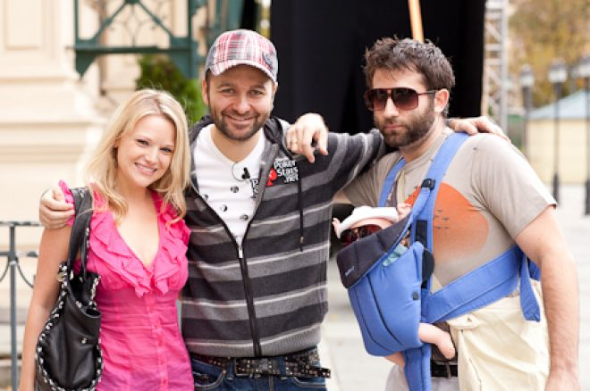 Photo of Daniel Negreanu & his friend celebrity  Joe Stapleton - Pokerstars