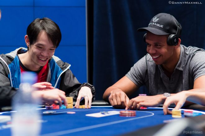 Chun Lei Zhou and Phil Ivey