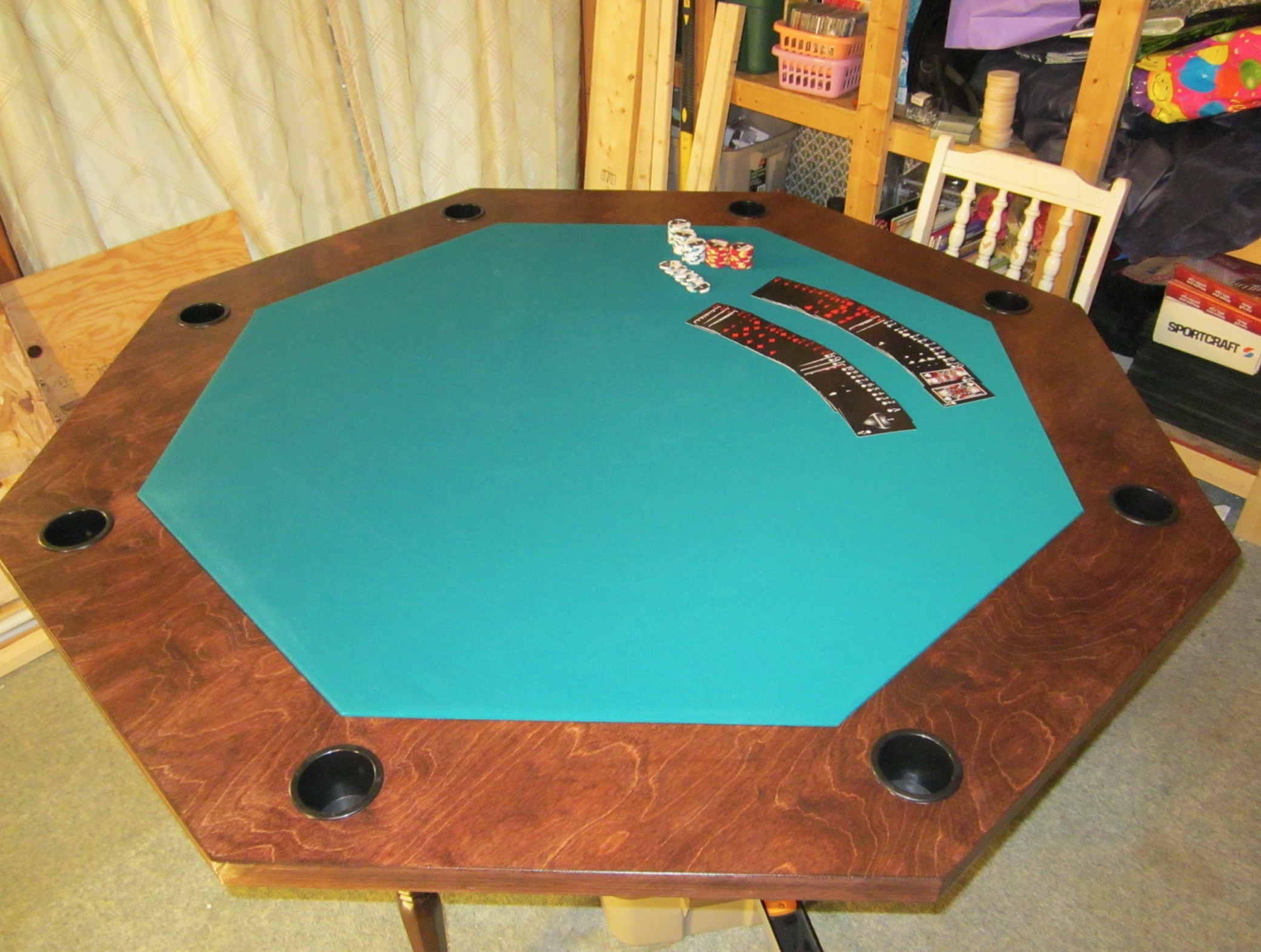 Build your own professional poker table at home pokernews - Build your own poker table ...