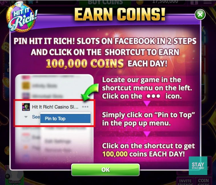 how to get free coins on hit it rich