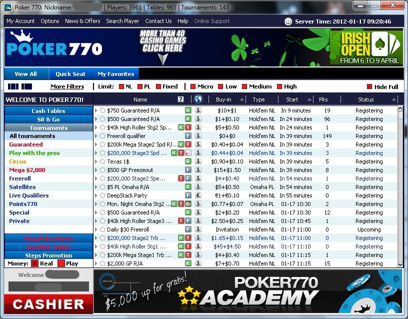 logiciel poker770