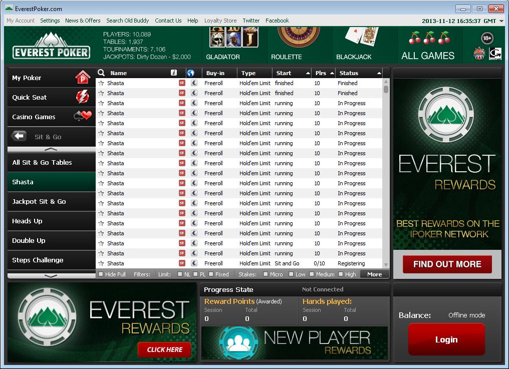 Everest poker no deposit bonus