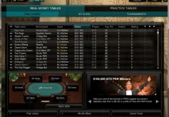 PKR Poker Cash Game Lobby
