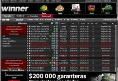 Winner Poker Tournament Lobby.