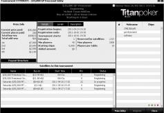 Titan Poker Active Tournament Lobby