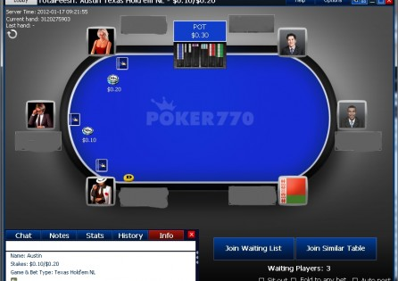 Poker770 New Table