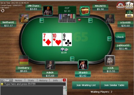 Bet365 Poker Table
