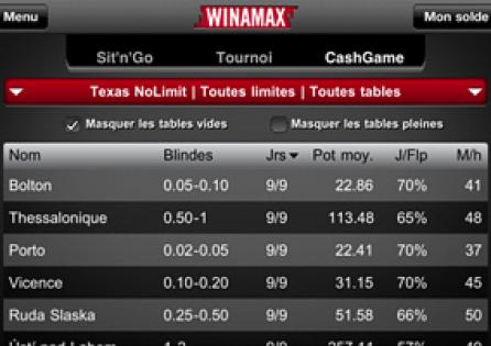 Winamax.fr lobby