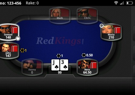 RedKings Poker table