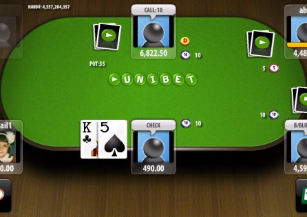 Unibet Poker table