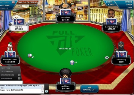 full tilt cash table