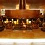 Fireplace inside the Alpine Palace Lobby