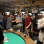 Friends rush in to congratulate the lates WSOP Champion, Mike Eise