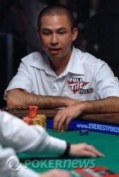 Kenny Tran, now about 400,000 chips lighter