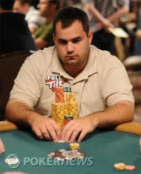 Peter Feldman is among the chip leaders heading into the final day of play at Event No. 56