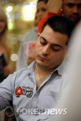 Eric Assadourian was not happy to see his set flop.