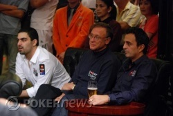 Emad Tahtouh, Lee Nelson and Joe Hachem railing the high roller's event