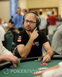 Daniel Negreanu on Day 1a of the main event