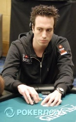 Lex Veldhuis sitting first in chips at the end of the day