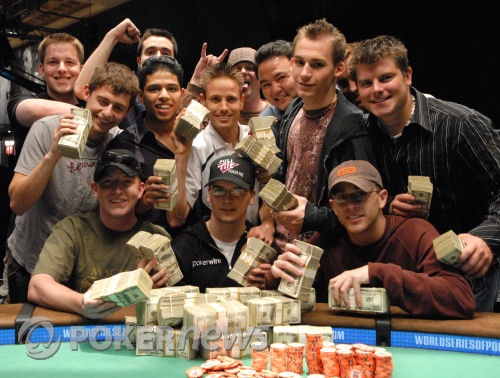 Event 1 winner Steve Billirakis and friends