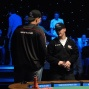 Greg Mueller and Steve Billirakis chat before heads up play begins