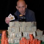 Greg Hopkins Behind His Mountain of Cash