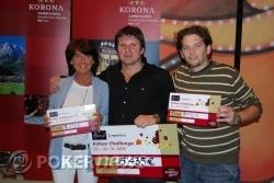 Virginia Barbaresi, Slobodan Ruzicic e Miha Remic. Il giocatore soprannominato Kilu Kuus non si è fatto fotografare per motivi di privacy