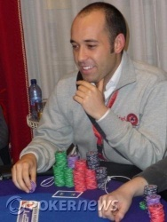 Vincenzo Spinelli, probabile chip leader del Day 1b