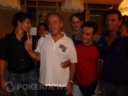 Massimo Di Cicco in compagnia dei suoi amici