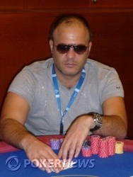 Il chip leader Anton Parvanov Genadiev